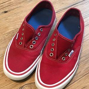 Vans Men's 7.5 Skateboarding Shoes Red